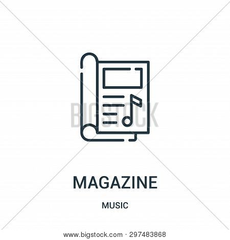 Magazine Icon Isolated On White Background From Music Collection. Magazine Icon Trendy And Modern Ma