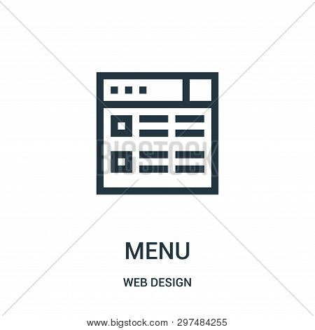 Menu Icon Isolated On White Background From Web Design Collection. Menu Icon Trendy And Modern Menu