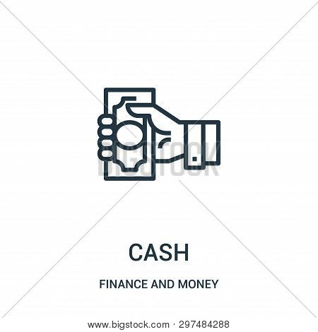 Cash Icon Isolated On White Background From Finance And Money Collection. Cash Icon Trendy And Moder