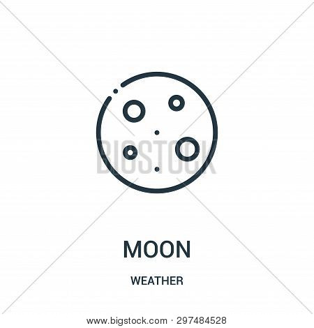 Moon Icon Isolated On White Background From Weather Collection. Moon Icon Trendy And Modern Moon Sym