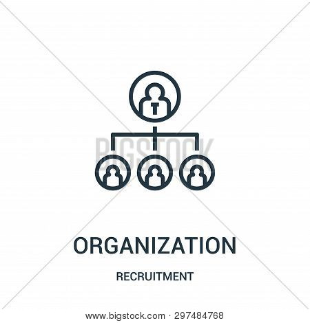 Organization Icon Isolated On White Background From Recruitment Collection. Organization Icon Trendy
