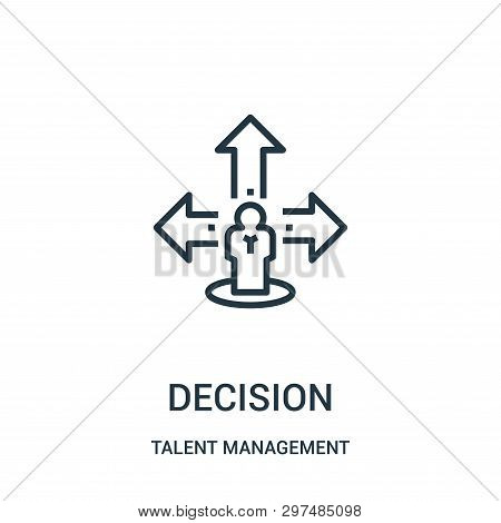 Decision Icon Isolated On White Background From Talent Management Collection. Decision Icon Trendy A