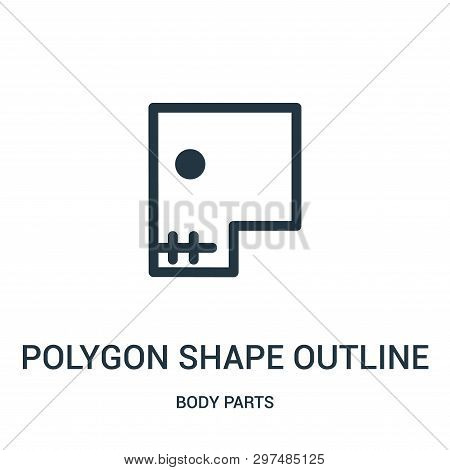 Polygon Shape Outline With Circle And Stitch Icon Isolated On White Background From Body Parts Colle