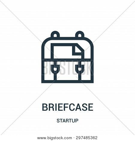 Briefcase Icon Isolated On White Background From Startup Collection. Briefcase Icon Trendy And Moder