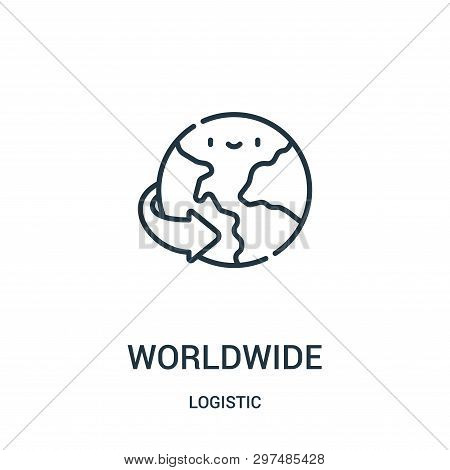 Worldwide Icon Isolated On White Background From Logistic Collection. Worldwide Icon Trendy And Mode