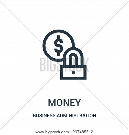 Money Icon Isolated On White Background From Business Administration Collection. Money Icon Trendy A
