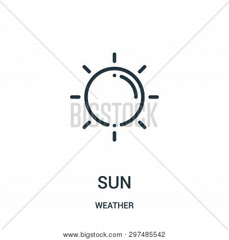 Sun Icon Isolated On White Background From Weather Collection. Sun Icon Trendy And Modern Sun Symbol