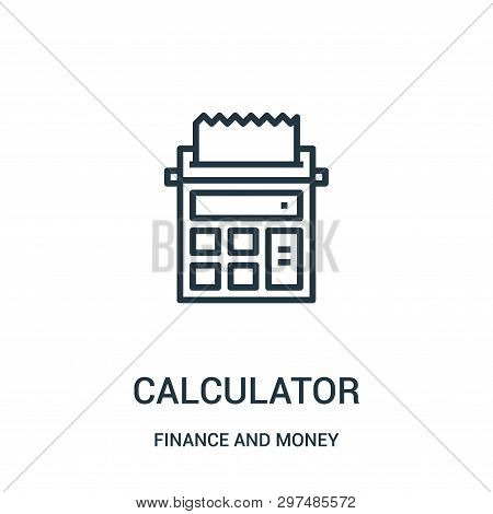 Calculator Icon Isolated On White Background From Finance And Money Collection. Calculator Icon Tren