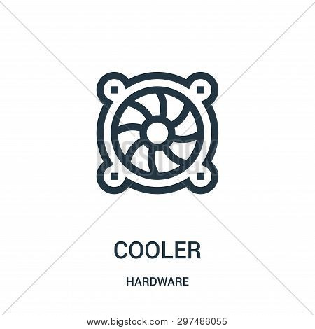 Cooler Icon Isolated On White Background From Hardware Collection. Cooler Icon Trendy And Modern Coo