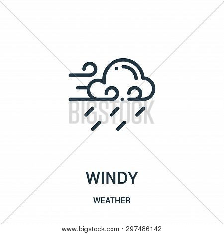 Windy Icon Isolated On White Background From Weather Collection. Windy Icon Trendy And Modern Windy