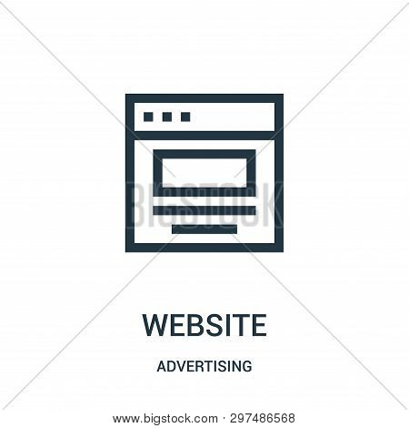 Website Icon Isolated On White Background From Advertising Collection. Website Icon Trendy And Moder