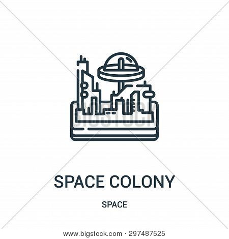 Space Colony Icon Isolated On White Background From Space Collection. Space Colony Icon Trendy And M