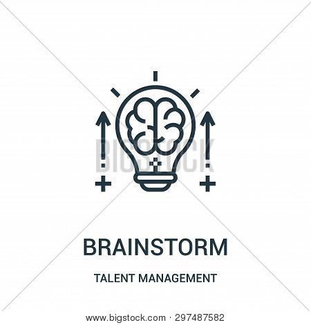 Brainstorm Icon Isolated On White Background From Talent Management Collection. Brainstorm Icon Tren