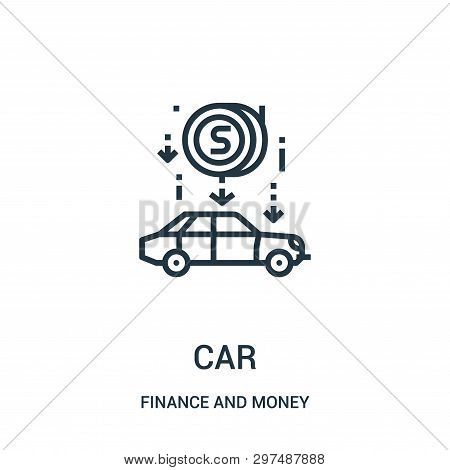 poster of car icon isolated on white background from finance and money collection. car icon trendy and modern car symbol for logo, web, app, UI. car icon simple sign. car icon flat vector illustration for graphic and web design.