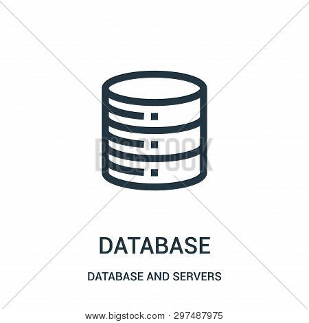 Database Icon Isolated On White Background From Database And Servers Collection. Database Icon Trend