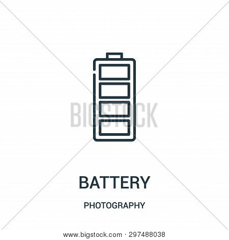 Battery Icon Isolated On White Background From Photography Collection. Battery Icon Trendy And Moder