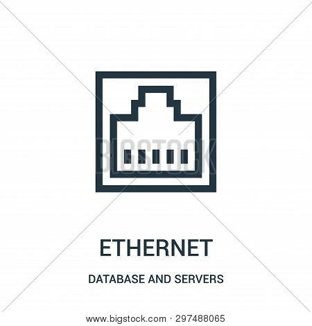 Ethernet Icon Isolated On White Background From Database And Servers Collection. Ethernet Icon Trend