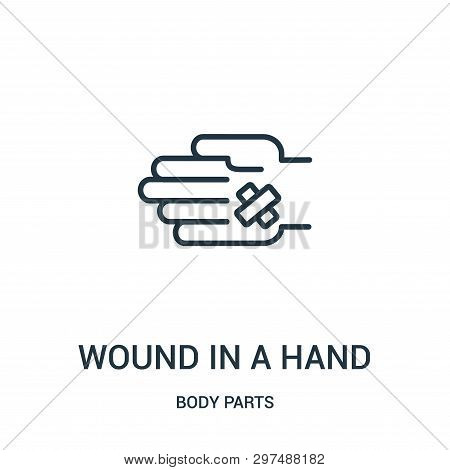 Wound In A Hand Icon Isolated On White Background From Body Parts Collection. Wound In A Hand Icon T