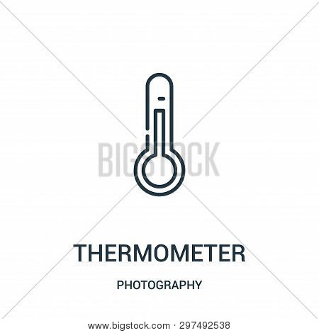 Thermometer Icon Isolated On White Background From Photography Collection. Thermometer Icon Trendy A