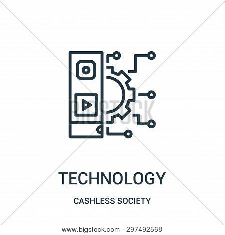 Technology Icon Isolated On White Background From Cashless Society Collection. Technology Icon Trend