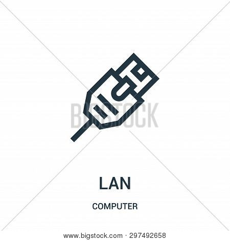 Lan Icon Isolated On White Background From Computer Collection. Lan Icon Trendy And Modern Lan Symbo