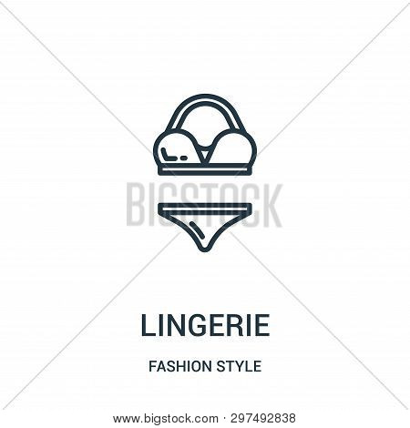 Lingerie Icon Isolated On White Background From Fashion Style Collection. Lingerie Icon Trendy And M