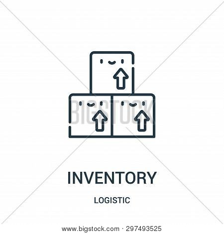 Inventory Icon Isolated On White Background From Logistic Collection. Inventory Icon Trendy And Mode