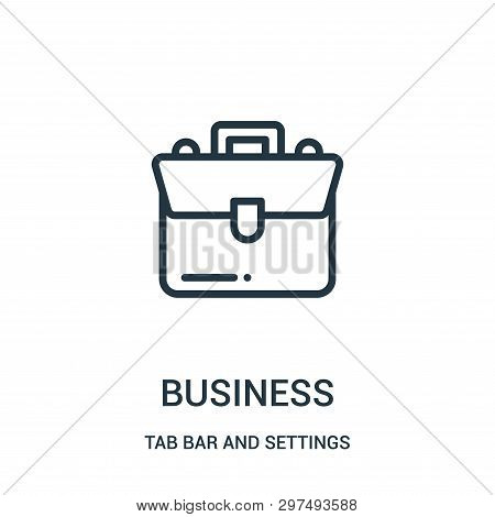 Business Icon Isolated On White Background From Tab Bar And Settings Collection. Business Icon Trend