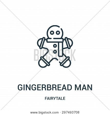 Gingerbread Man Icon Isolated On White Background From Fairytale Collection. Gingerbread Man Icon Tr