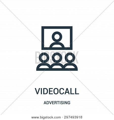 Videocall Icon Isolated On White Background From Advertising Collection. Videocall Icon Trendy And M