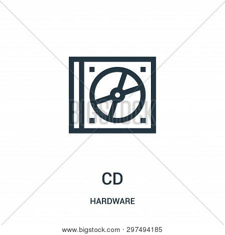 Cd Icon Isolated On White Background From Hardware Collection. Cd Icon Trendy And Modern Cd Symbol F