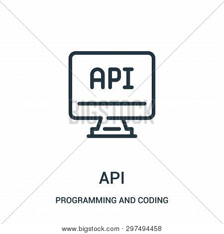 Api Icon Isolated On White Background From Programming And Coding Collection. Api Icon Trendy And Mo