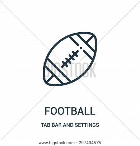Football Icon Isolated On White Background From Tab Bar And Settings Collection. Football Icon Trend