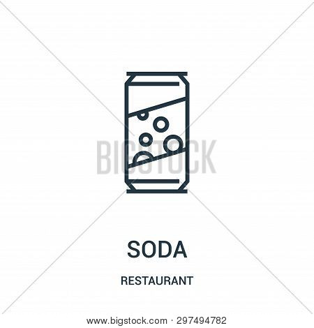 Soda Icon Isolated On White Background From Restaurant Collection. Soda Icon Trendy And Modern Soda