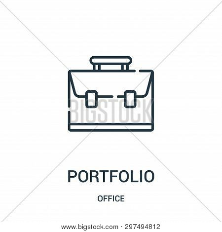 Portfolio Icon Isolated On White Background From Office Collection. Portfolio Icon Trendy And Modern