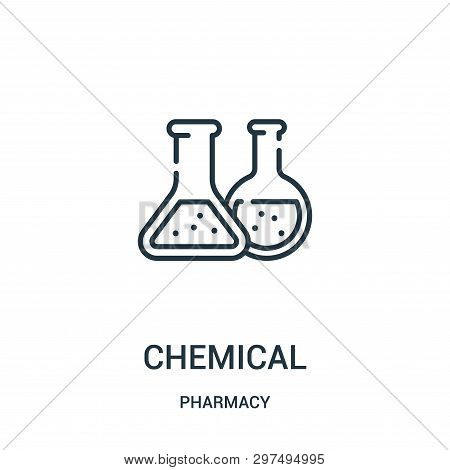 Chemical Icon Isolated On White Background From Pharmacy Collection. Chemical Icon Trendy And Modern