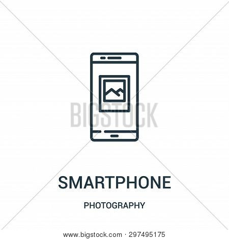 Smartphone Icon Isolated On White Background From Photography Collection. Smartphone Icon Trendy And