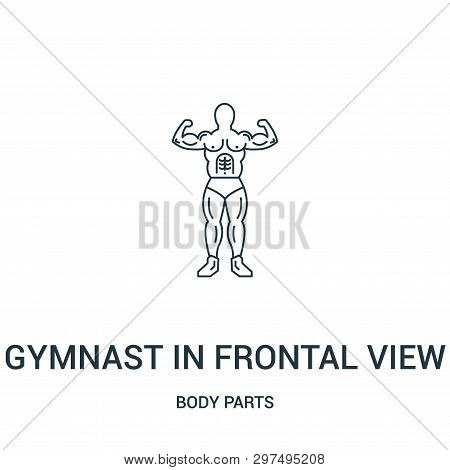 Gymnast In Frontal View Showing His Muscles Icon Isolated On White Background From Body Parts Collec