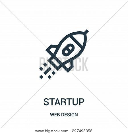 Startup Icon Isolated On White Background From Web Design Collection. Startup Icon Trendy And Modern