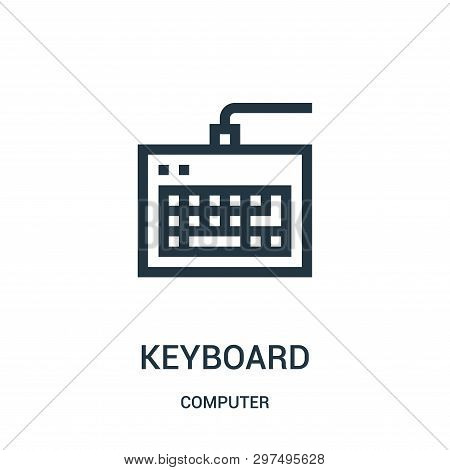 Keyboard Icon Isolated On White Background From Computer Collection. Keyboard Icon Trendy And Modern