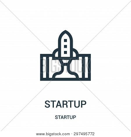 Startup Icon Isolated On White Background From Startup Collection. Startup Icon Trendy And Modern St