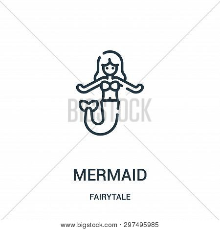 Mermaid Icon Isolated On White Background From Fairytale Collection. Mermaid Icon Trendy And Modern