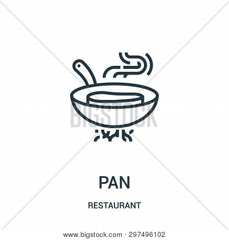 Pan Icon Isolated On White Background From Restaurant Collection. Pan Icon Trendy And Modern Pan Sym