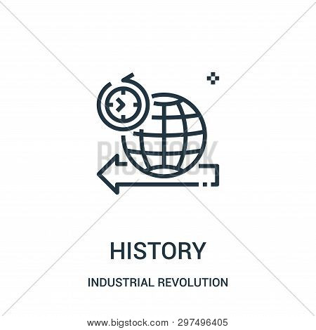 History Icon Isolated On White Background From Industrial Revolution Collection. History Icon Trendy