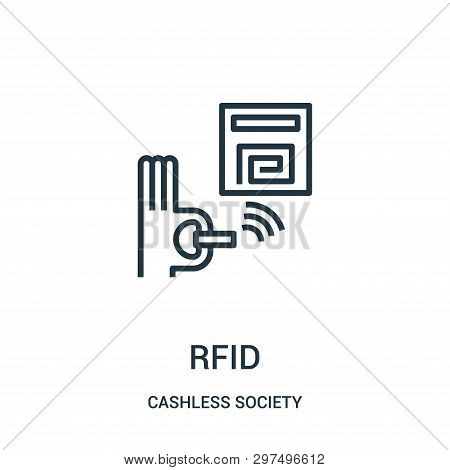 Rfid Icon Isolated On White Background From Cashless Society Collection. Rfid Icon Trendy And Modern