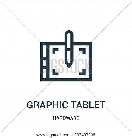 Graphic Tablet Icon Isolated On White Background From Hardware Collection. Graphic Tablet Icon Trend