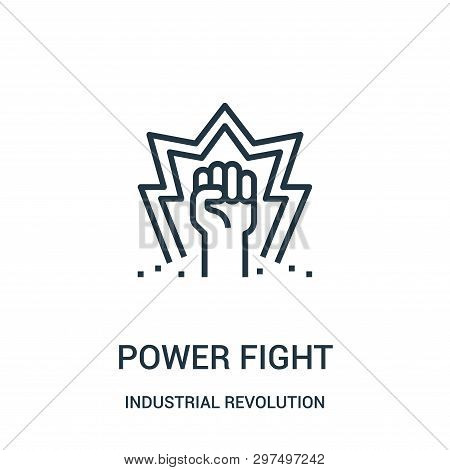 Power Fight Icon Isolated On White Background From Industrial Revolution Collection. Power Fight Ico