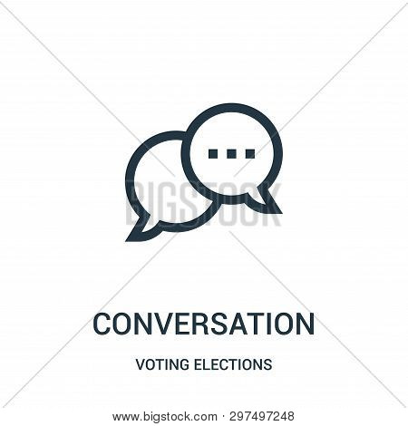 Conversation Icon Isolated On White Background From Voting Elections Collection. Conversation Icon T