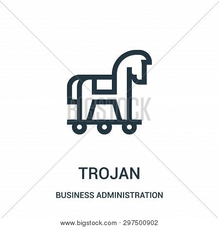 Trojan Icon Isolated On White Background From Business Administration Collection. Trojan Icon Trendy