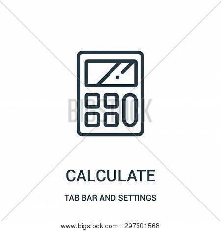 Calculate Icon Isolated On White Background From Tab Bar And Settings Collection. Calculate Icon Tre